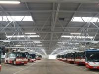 Rekonstrukce střechy autobusových garáží Řepy