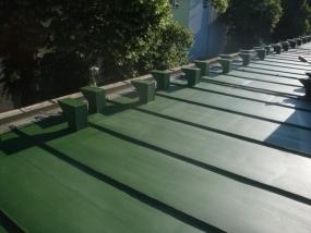 Oprava střechy vozovny Vokovice